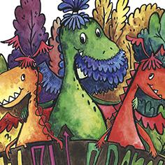 Иллюстрации Фокиной Ани к книге про драконов. акварель