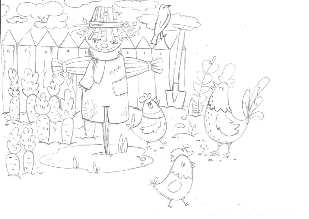 Обитатели фермы. Эскиз