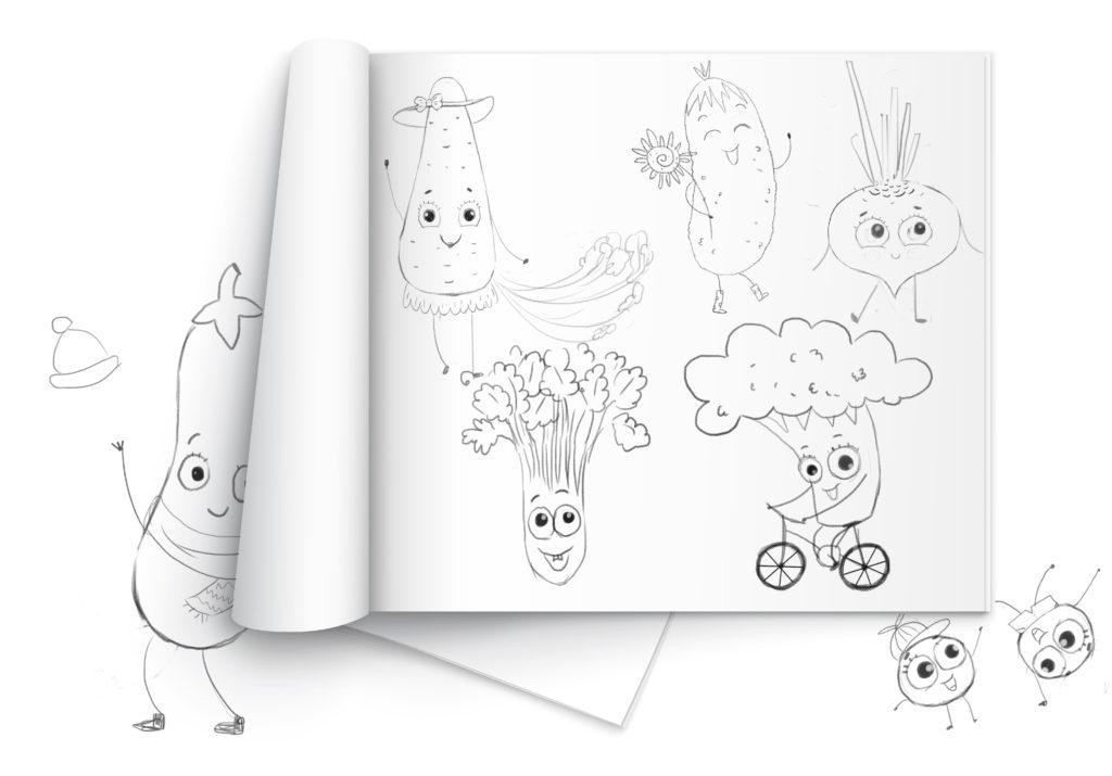 Эскизы к книге детской стихов