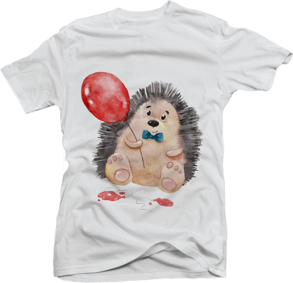 Дизайн футболки с иллюстрацией