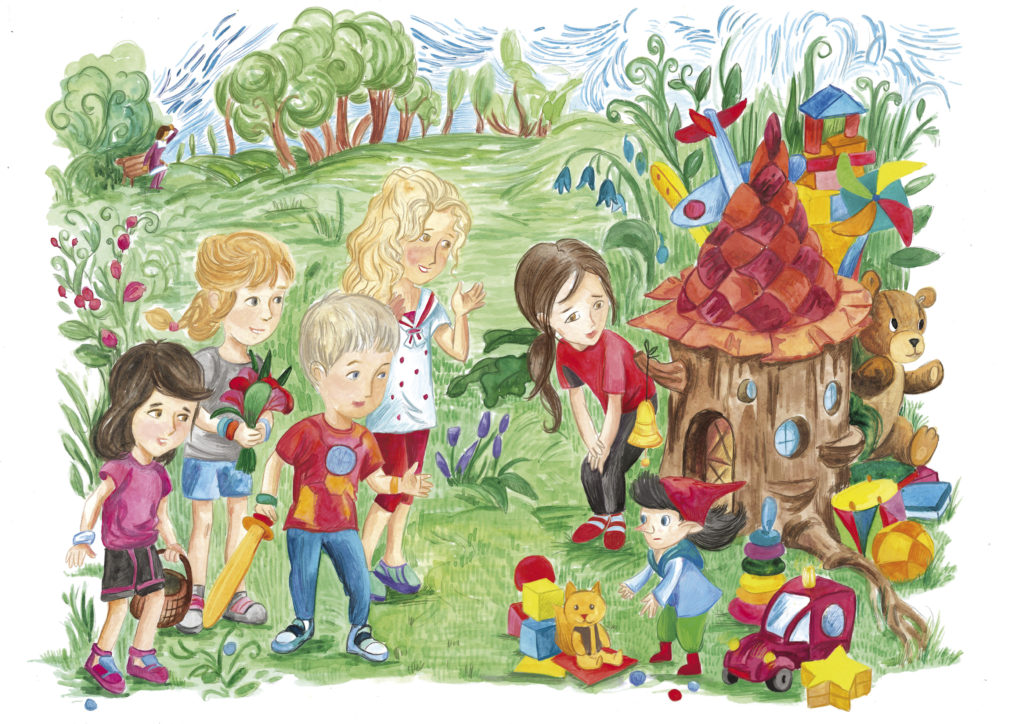 Страница с иллюстрацией из книги Про Полину, Вадима и все-всех-всех!