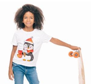 Дизайн футболки с пингвином