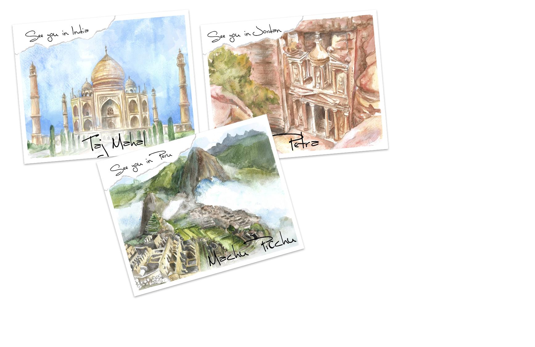 открытки чудеса света
