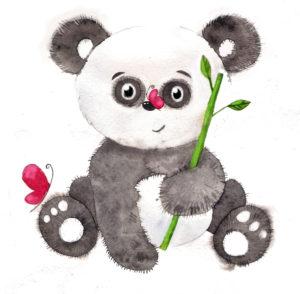Иллюстрация панда