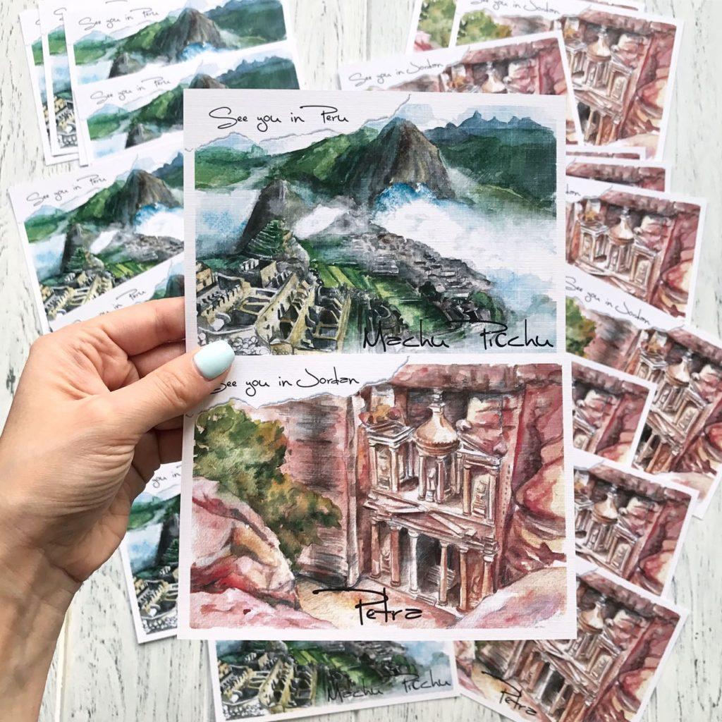 открытки 7 чудес света