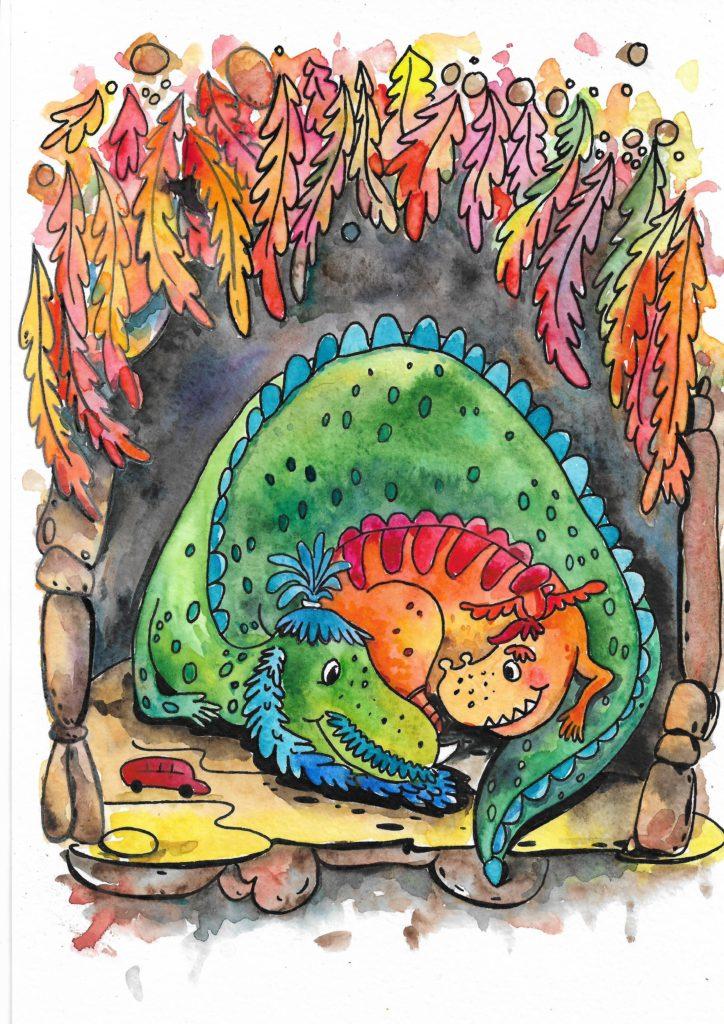 Иллюстрация Драконы спят