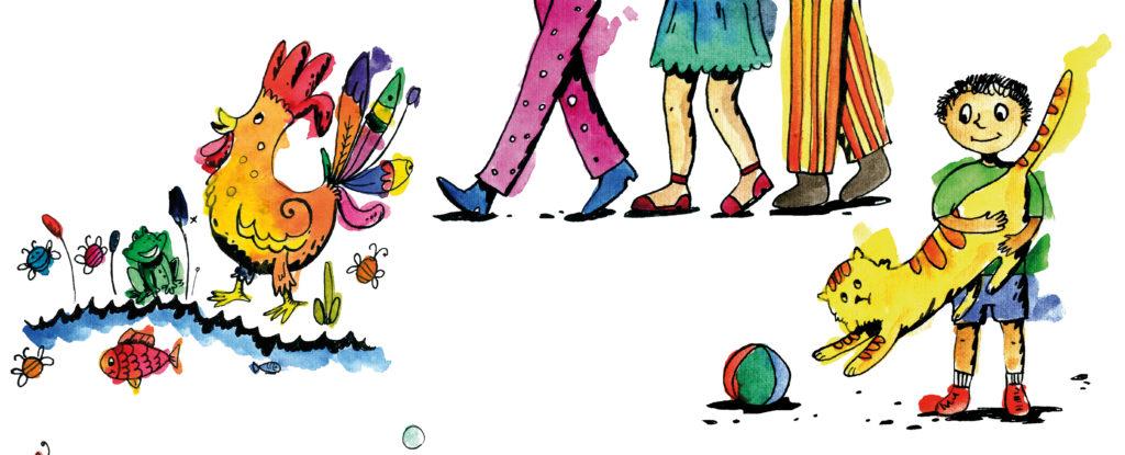 Фрагмент иллюстрации из книги стишки-малышки