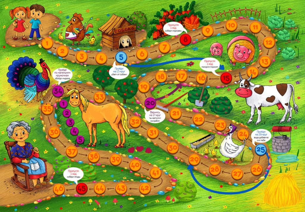Игровое поле настольная игра ферма