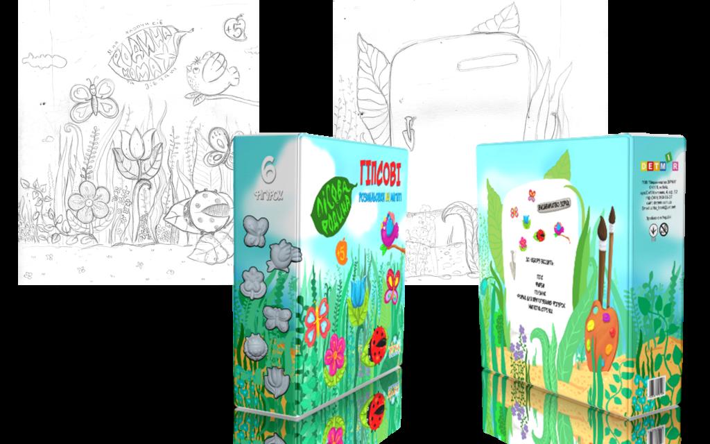 Эскиз иллюстраций для упаковок