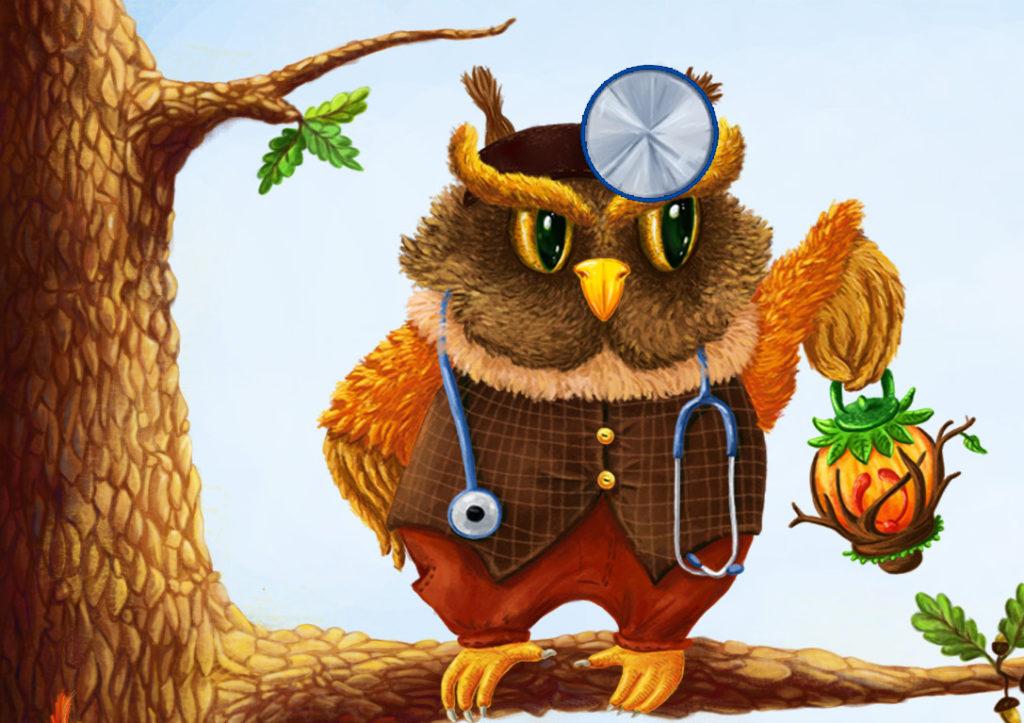 иллюстрация сова
