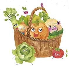 Иллюстрации овощные стихи